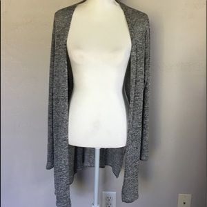 Divided, gray cardigan